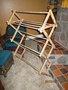 Antique Wood Mennonite Clothes Drying Rack