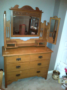 Antique Dresser With Mirrors