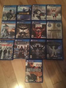Jeux PS4 en très bon état
