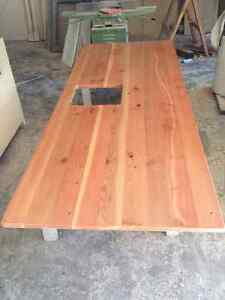 Solid fir island countertop