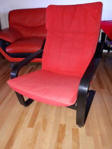 IKEA- POÄNG Armchair, black-brown, Ransta red - USED - Like new