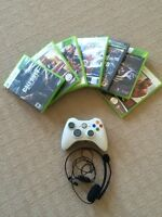 8 Xbox 360 games + Mic & Controller only 40 bucks!