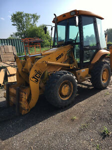JCB 212s 4x4 LOADER BACKHOE , 4 wheel steer, with 8 attachments