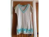Beige and blue ladies tunic from zara