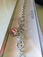 GUESS Beautiful Unused Crystal and Heart Bracelet