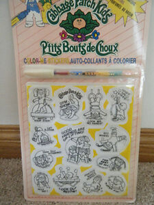 Cabbage Patch Kid Color-Me Stickers