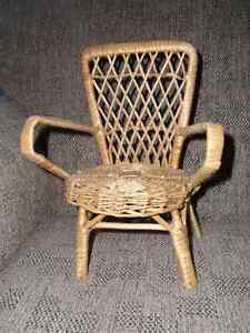 NEW: Doll or Bear Furniture: Wicker Arm Chair