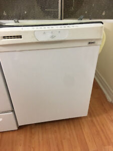 "Kenmore 24"" white under counter dishwasher stainless steel insid"