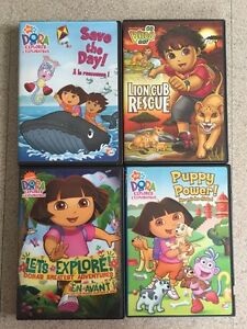 DVDs -Dora, Diego and Mickey Mouse Club House