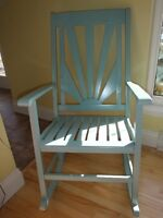 Beautiful Blue Rocking Chair - for inside or outside