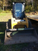 Skid steer for hire or rent .