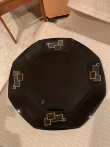 Great Modern , Black octagon PLATE or can be used as a TRAY