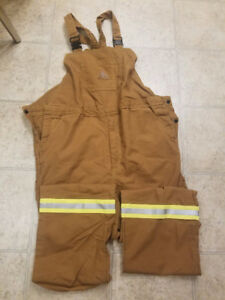 Bulwark fire retardant coverall bibs, new never worn, Large FR