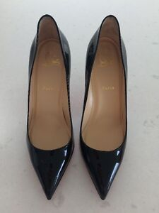 Christian Louboutin Pigalle 85MM Black patent leather Size 40