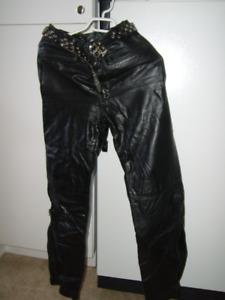 Pantalon de cuir véritable