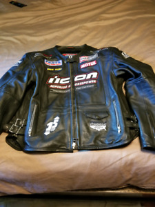 Icon full leather xl motorcycle jacket