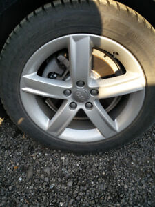 """17"""" 5 Arm Audi Winter Tire Package In Great Condition!!!"""