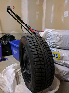 Uniroyal Winter steel rims and tires, 215/60/16