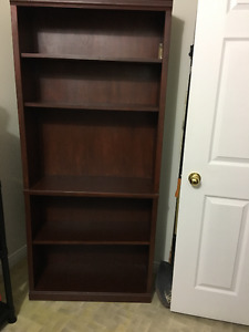 Cherry finished bookcase