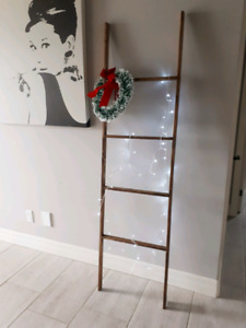 6 foot decorative wooden ladders