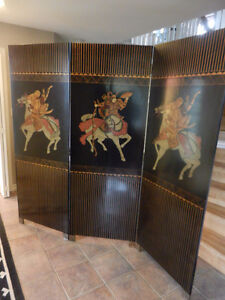 Beautiful Chinese wooden room screen (3 piece)