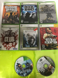 XBOX 360 Games, lot of 8 games
