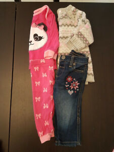 6-12 month girls outfit/pj's