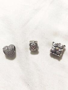 3 Pandora Charms