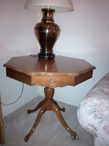 French Provincial octagonal end table