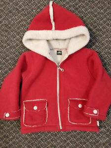 Size 2 Girls Roots coat and 2T Unisex Columbia down vest