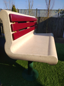Rare Mid Century Diner Outdoor Space Bench