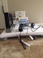 Wii w/ Wii balance board and games