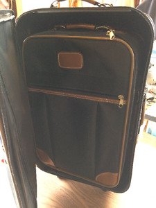 2 pc luggage and 1 pc hanging travel bag