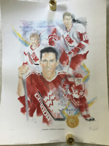 Hockey Canada poster, signed by players.
