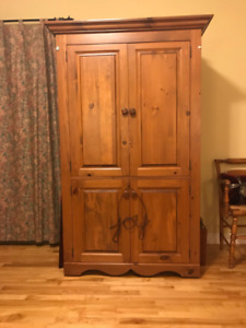 Custom made solid pine entertainment unit/cabinet