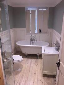 Victorian style panelling Bath room Refurbishment