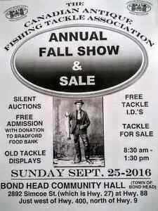 Vintage fishing tackle show