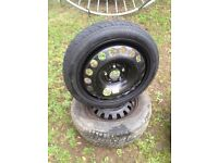 Brand new space saver tyre on 5 stud vauxhall fits vectra / insignia / Astra h etc 07594145438