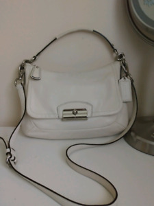 Coach Kristin Leather East-West Crossbody Bag - White F22308