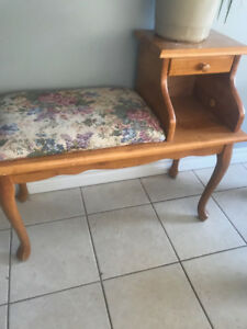 Old telephone table/Little Bench