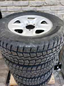 Toyota Tundra snows winter tires and rims