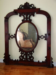 British Antique Entrance Mirror and coat-rack