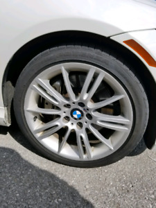 """Bmw 18"""" oem M rims style 193 stagerred and tires"""