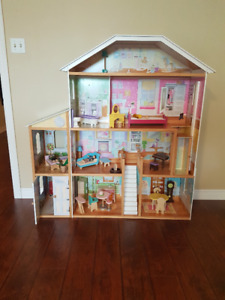 KidKraft Majestic Dollhouse - Large with accessories $75