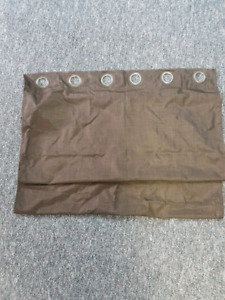 Blackout curtains brown