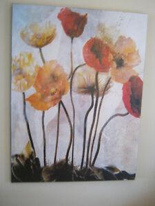 Grande toile aux couleurs chaudes