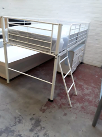 Mid height sleeper bed with brand new mattress £110
