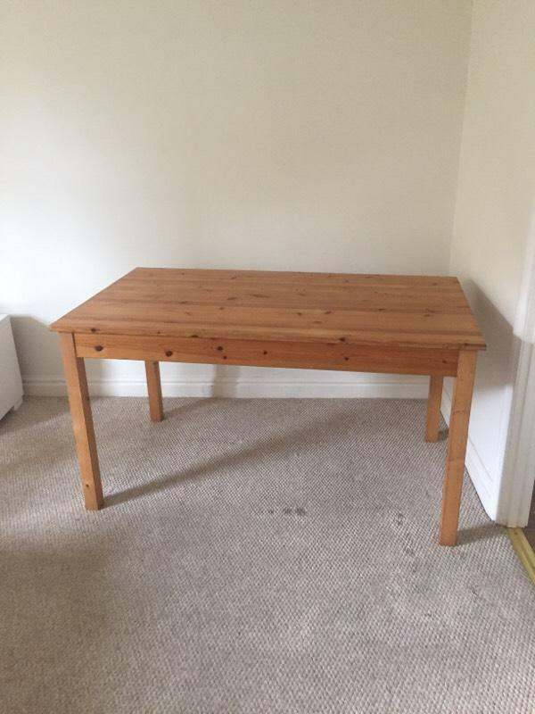 newly refurbished pine dining table in cheltenham