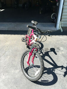 "Girls 20"" Raleigh Mountain bike - excellent condition"