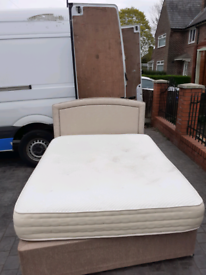 King size w mattress. Possible delivery